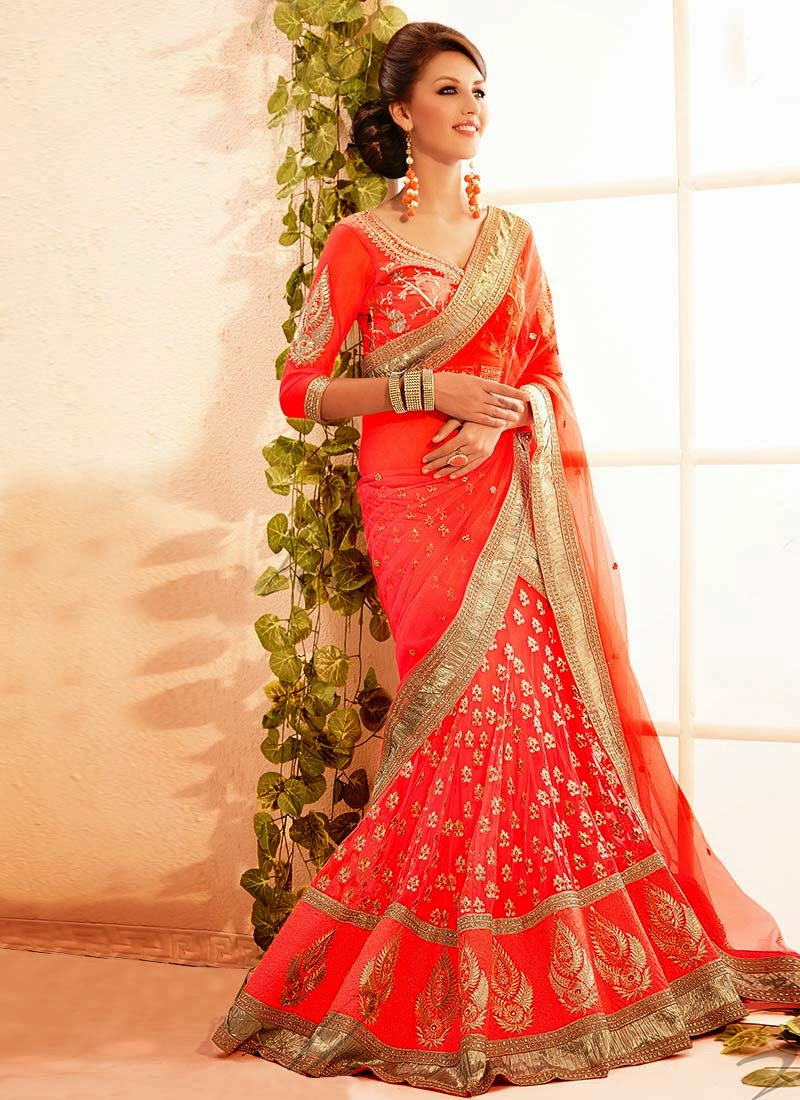 Latest Indian and Asian Designer Party wear and wedding Saree Collection for Women 2014-2015 (17)