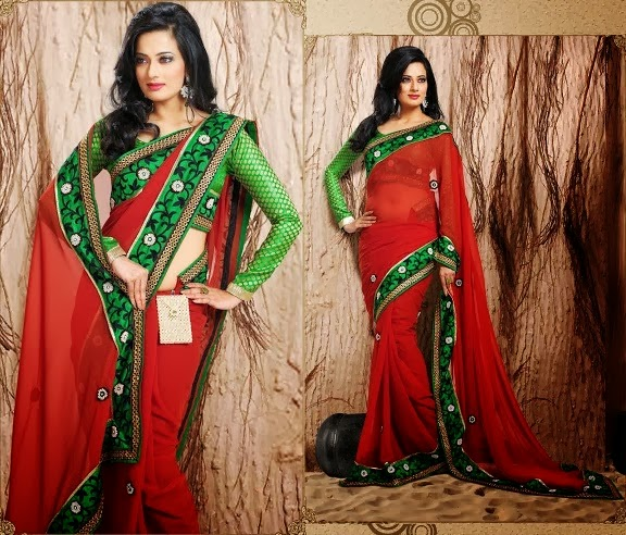 Latest Indian and Asian Designer Party wear and wedding Saree Collection for Women 2014-2015 (18)