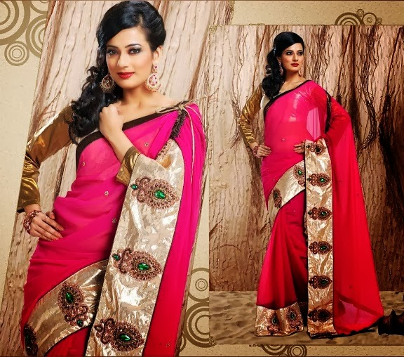 Latest Indian and Asian Designer Party wear and wedding Saree Collection for Women 2014-2015 (19)