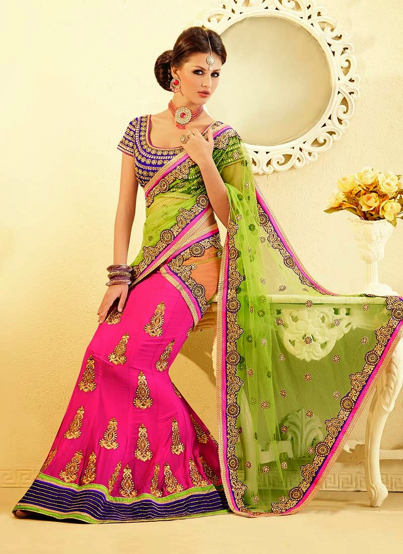 Latest Indian and Asian Designer Party wear and wedding Saree Collection for Women 2014-2015 (2)