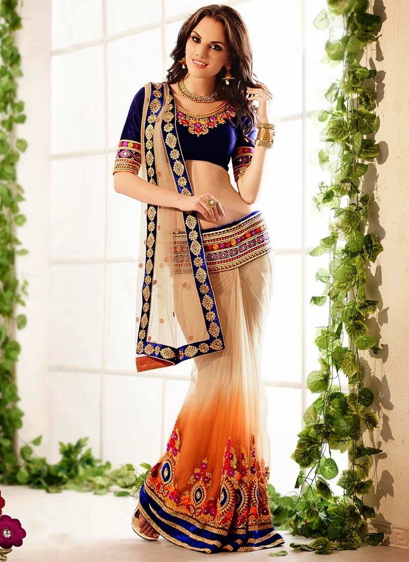 Latest Indian and Asian Designer Party wear and wedding Saree Collection for Women 2014-2015 (3)