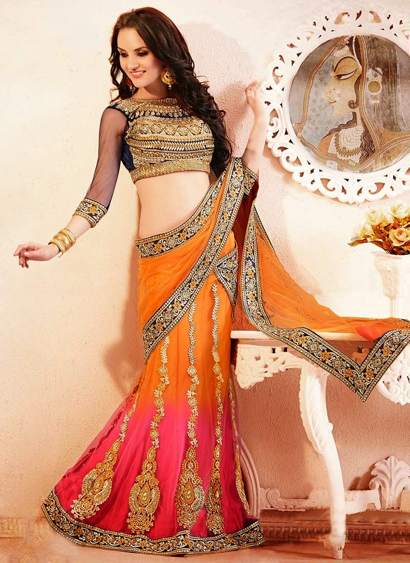 Latest Indian and Asian Designer Party wear and wedding Saree Collection for Women 2014-2015 (4)