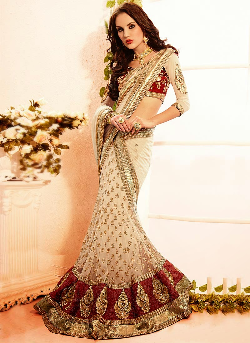 Latest Indian and Asian Designer Party wear and wedding Saree Collection for Women 2014-2015 (5)