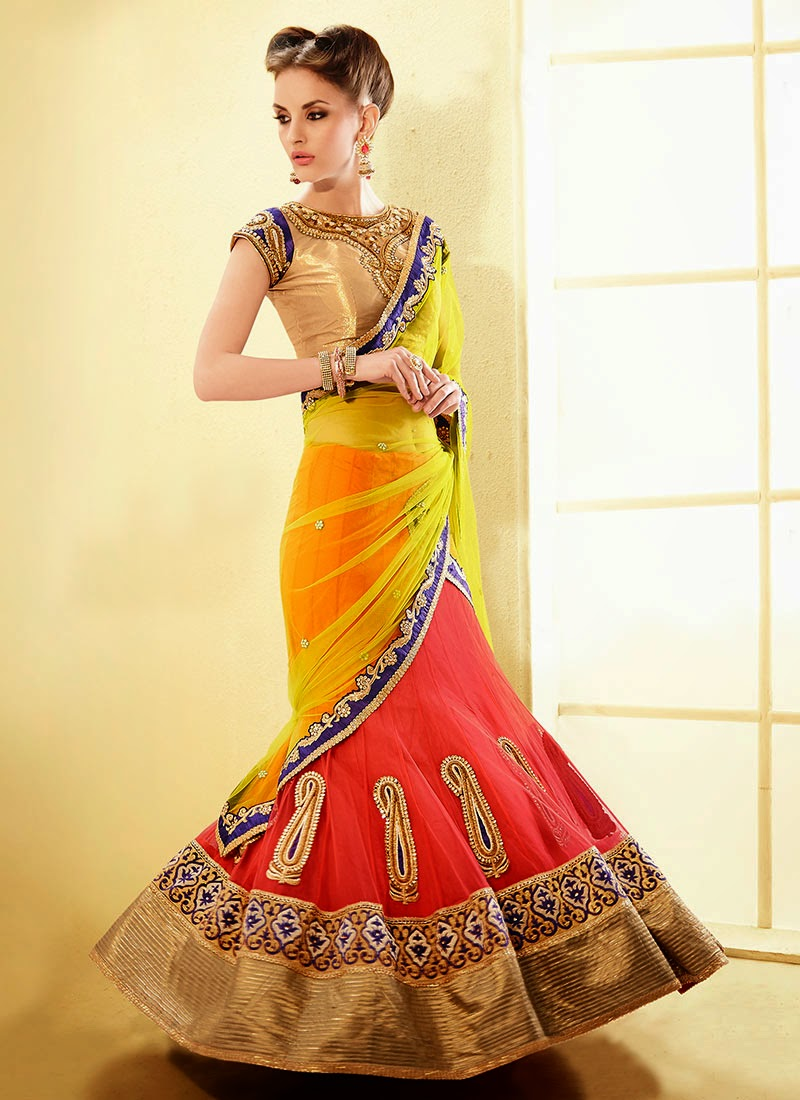 Latest Indian and Asian Designer Party wear and wedding Saree Collection for Women 2014-2015 (7)