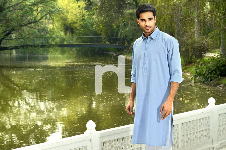 Latest Modern Men Kurta and Salwar Kameez Designs by Nishat Fabrics- Naqsh 2014-2015 (10)