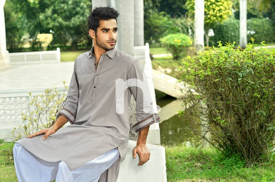 Latest Modern Men Kurta and Salwar Kameez Designs by Nishat Fabrics- Naqsh 2014-2015 (12)