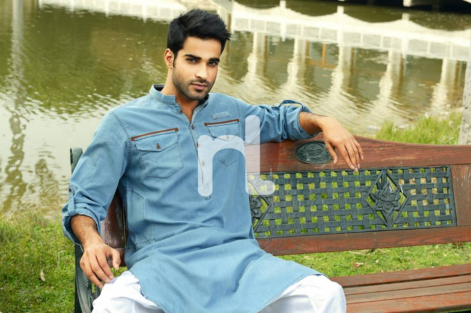 Latest Modern Men Kurta and Salwar Kameez Designs by Nishat Fabrics- Naqsh 2014-2015 (14)