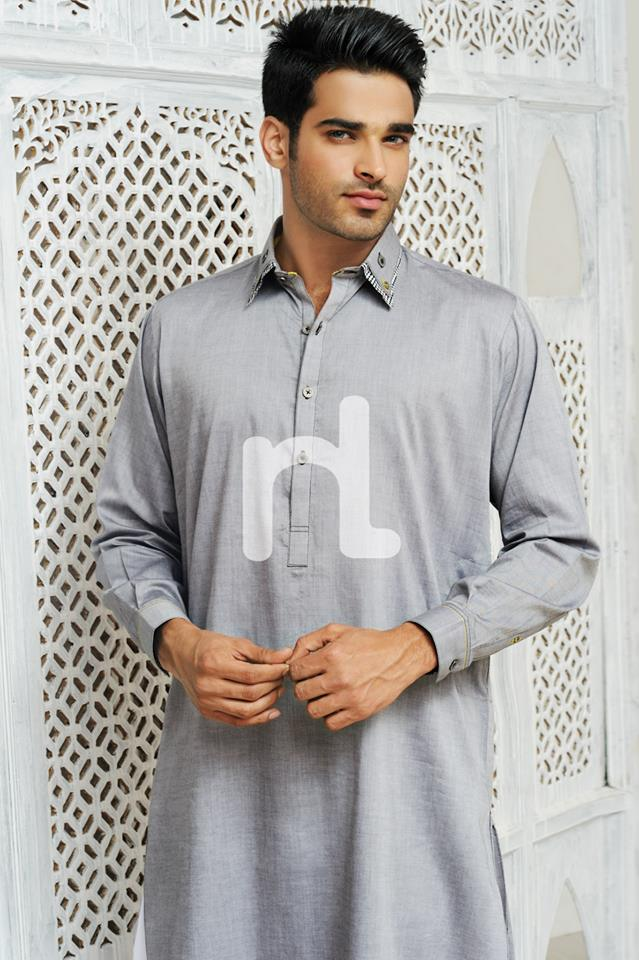 Latest Modern Men Kurta and Salwar Kameez Designs by Nishat Fabrics- Naqsh 2014-2015 (2)