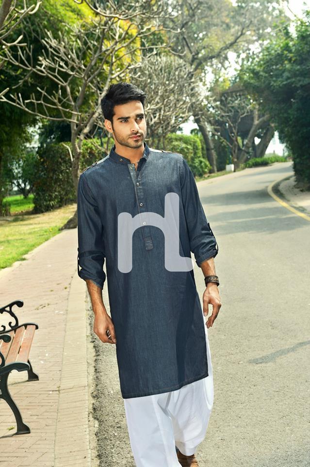 Latest Modern Men Kurta and Salwar Kameez Designs by Nishat Fabrics- Naqsh 2014-2015 (5)