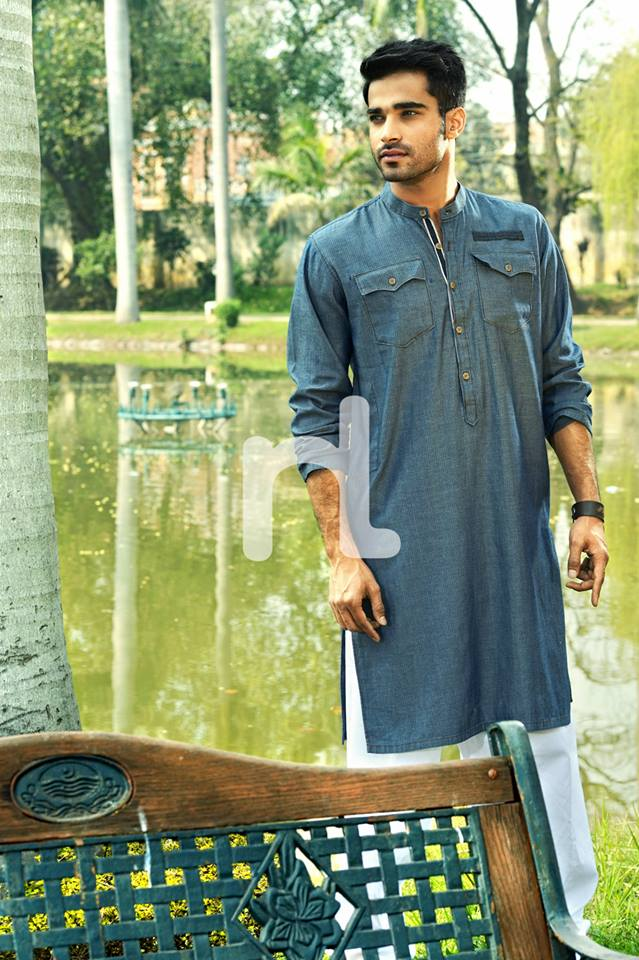 Latest Modern Men Kurta and Salwar Kameez Designs by Nishat Fabrics- Naqsh 2014-2015 (6)