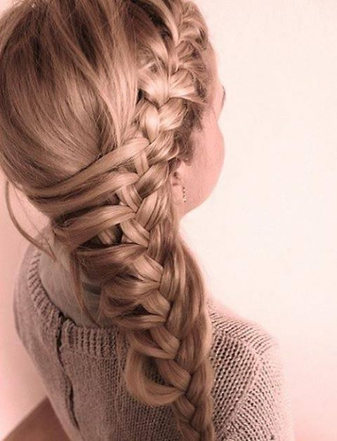 Latest Party wear Braided Hairstyles for women 2014-2015 (1)