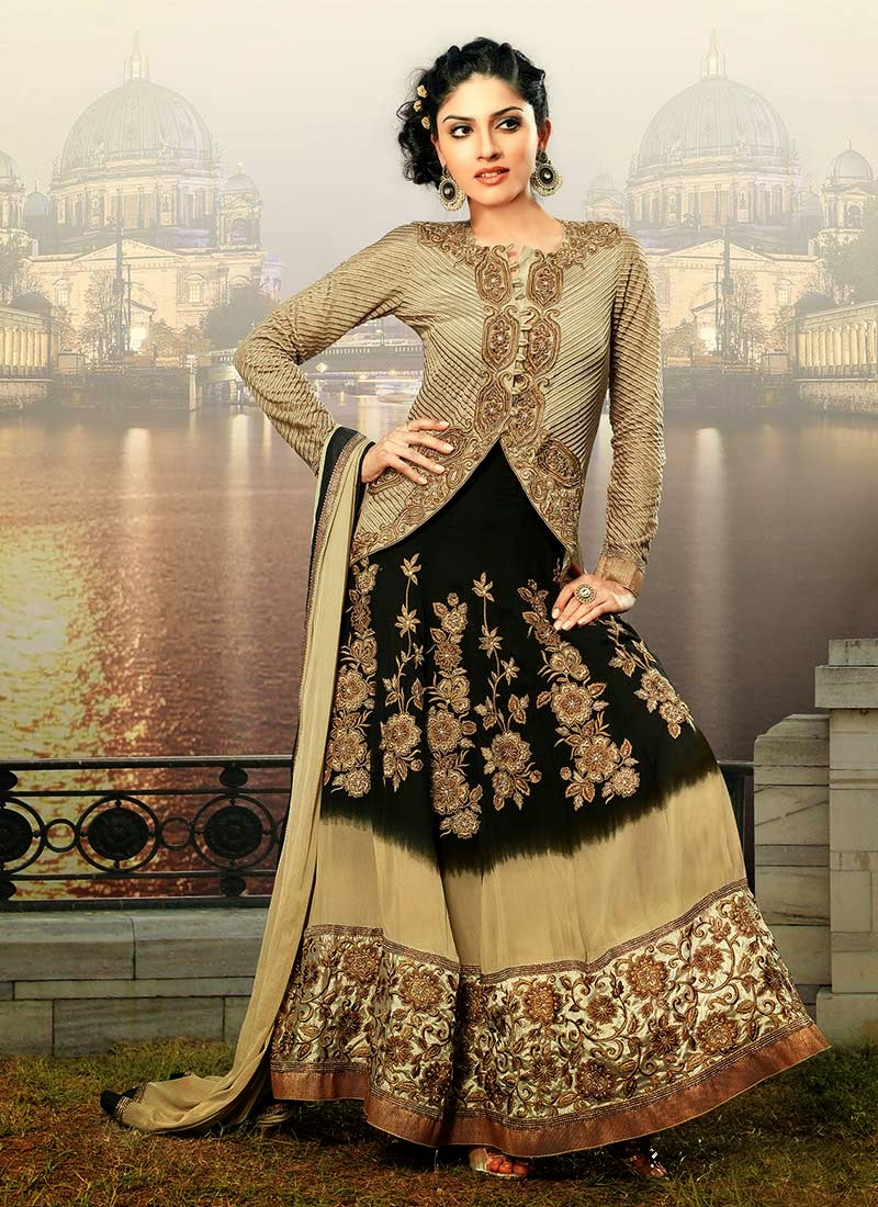 90f20049afc Latest Stylish and Fancy Indian Anarkali Umbrella Frock designs and  Churridaar Suits 2014-2015 (12)