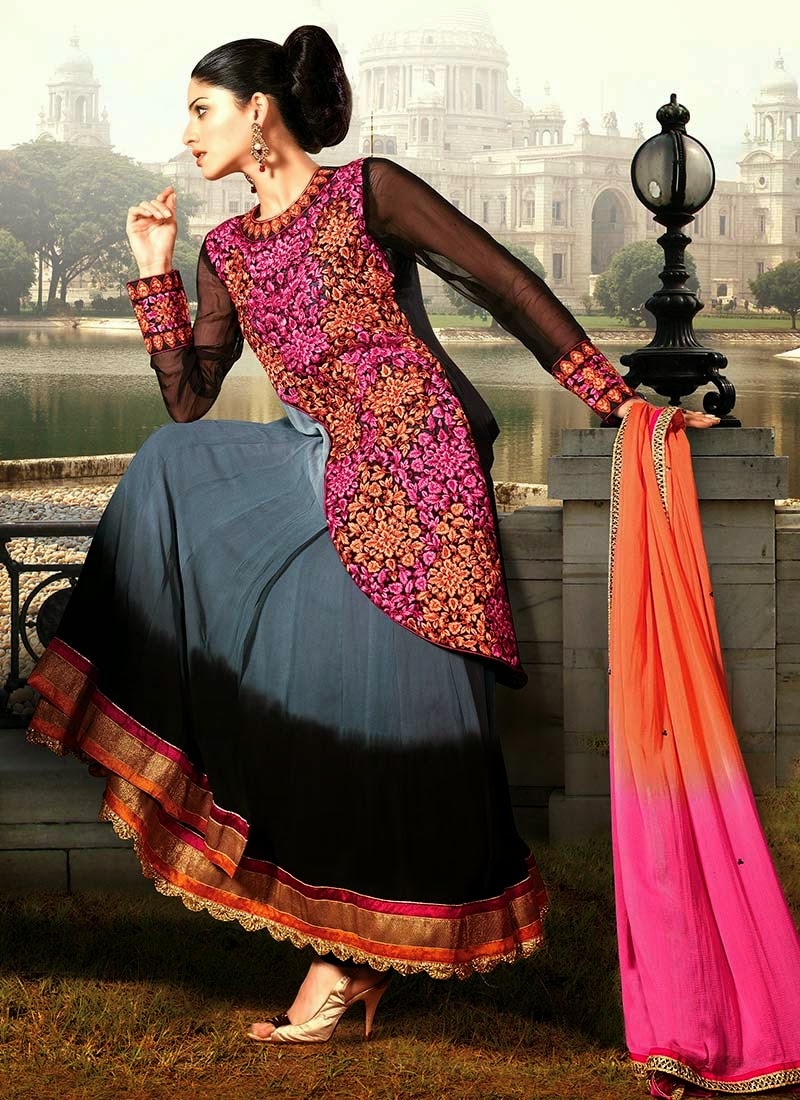 c2d8922cb10 Latest Stylish and Fancy Indian Anarkali Umbrella Frock designs and  Churridaar Suits 2014-2015 (13)