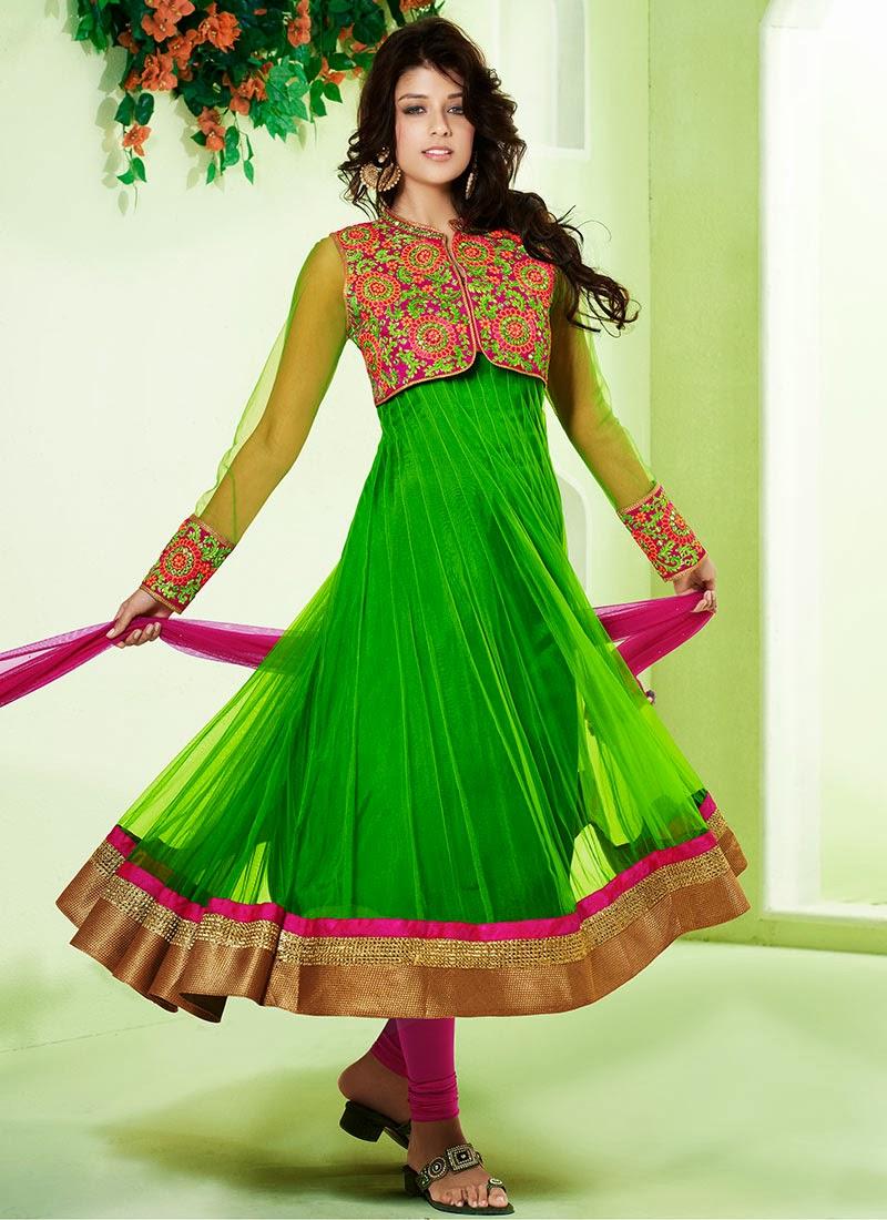 Anarkali Umbrella Frocks: Latest Stylish And Fancy Indian Umbrella Frock Designs