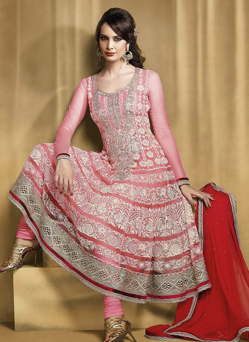 3ad3bb3c1f8 Latest Stylish and Fancy Indian Anarkali Umbrella Frock designs and  Churridaar Suits 2014-2015 (5)