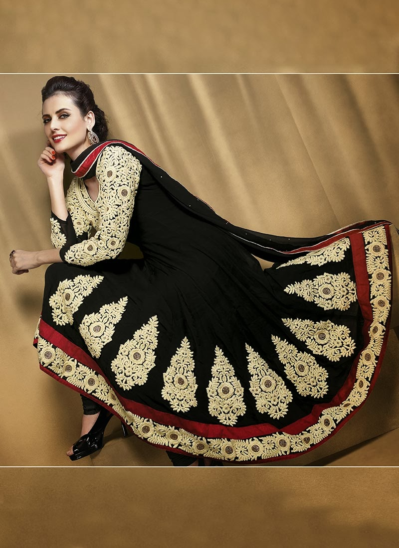 278ae24c20b Latest Stylish and Fancy Indian Anarkali Umbrella Frock designs and  Churridaar Suits 2014-2015 (6)