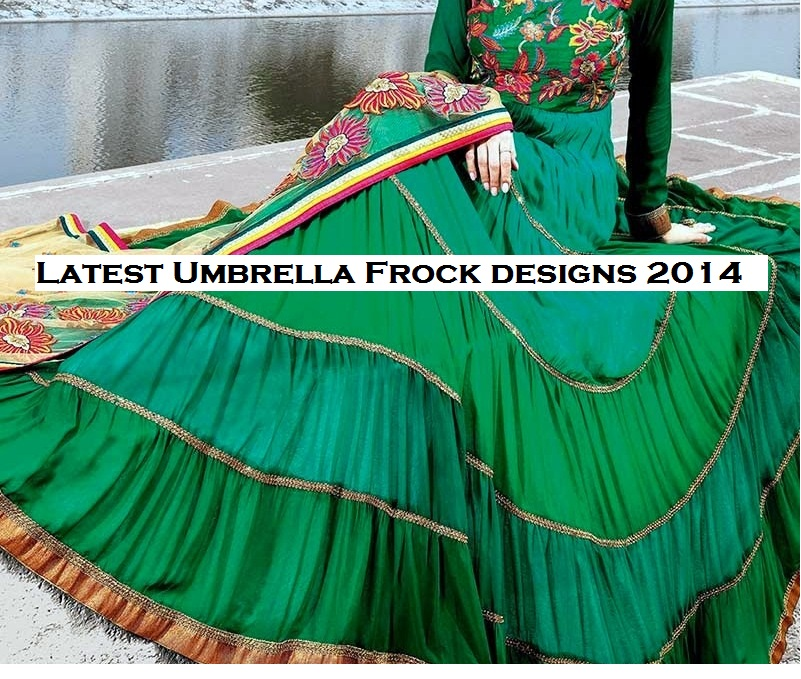 Latest Stylish and Fancy Indian Umbrella Frock Designs and Churridaar Suits 2014-2015