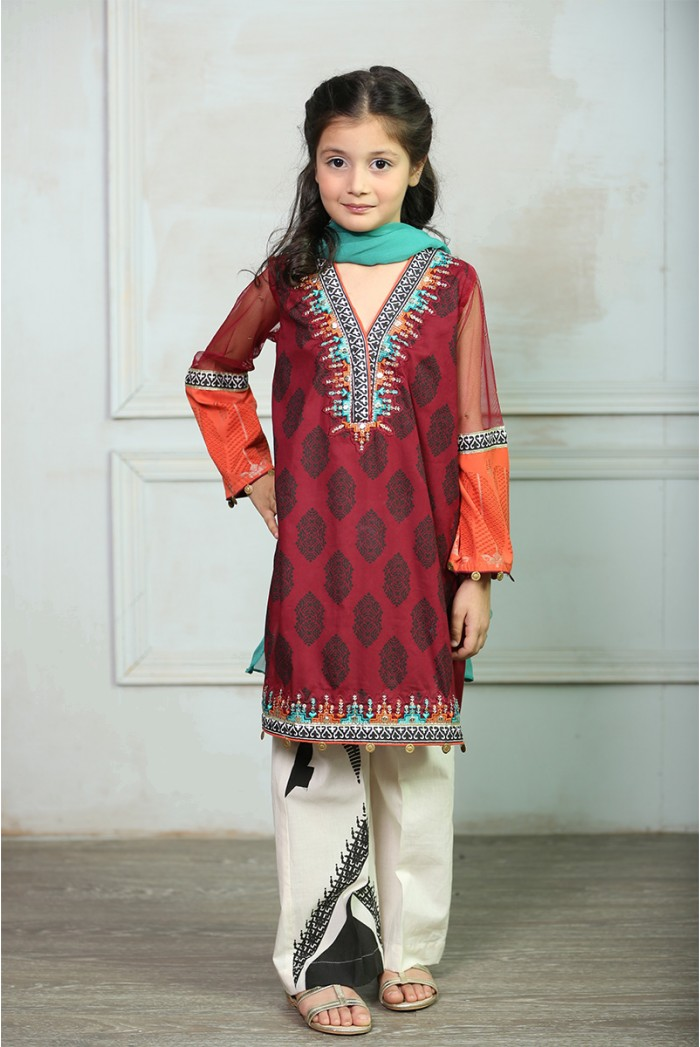 Maria B Fancy Kids Dresses Designs for Girls 2016-2017 Latest Collection (3)