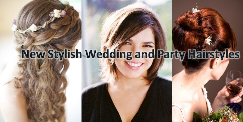 New Modern And Stylish Wedding Party Wear Hairstyles And Looks For