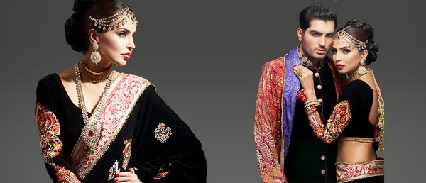 Deepak Perwani Latest Bridal-wedding wear dressescollection for men and women at Pantane Bridal Couture week 2014  (10)