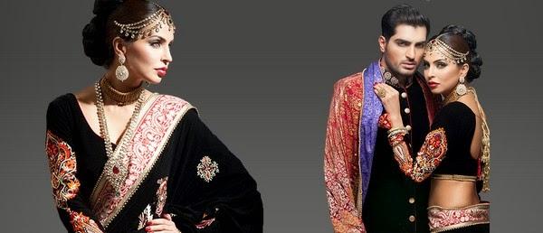 Deepak Perwani Latest Bridal-wedding wear dressescollection for men and women at Pantane Bridal Couture week 2014  (10)