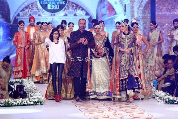 Deepak Perwani Latest Bridal-wedding wear dressescollection for men and women at Pantane Bridal Couture week 2014  (11)