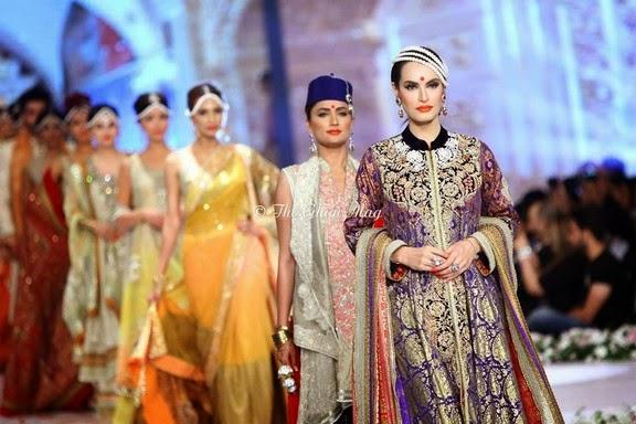 Deepak Perwani Latest Bridal-wedding wear dressescollection for men and women at Pantane Bridal Couture week 2014  (12)