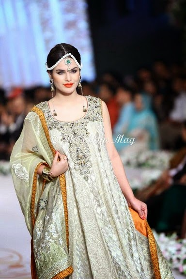 Deepak Perwani Latest Bridal-wedding wear dressescollection for men and women at Pantane Bridal Couture week 2014  (15)