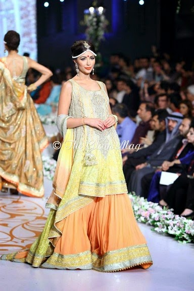 Deepak Perwani Latest Bridal-wedding wear dressescollection for men and women at Pantane Bridal Couture week 2014  (17)