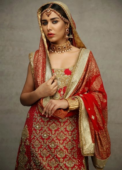 Deepak Perwani Latest Bridal-wedding wear dressescollection for men and women at Pantane Bridal Couture week 2014  (2)