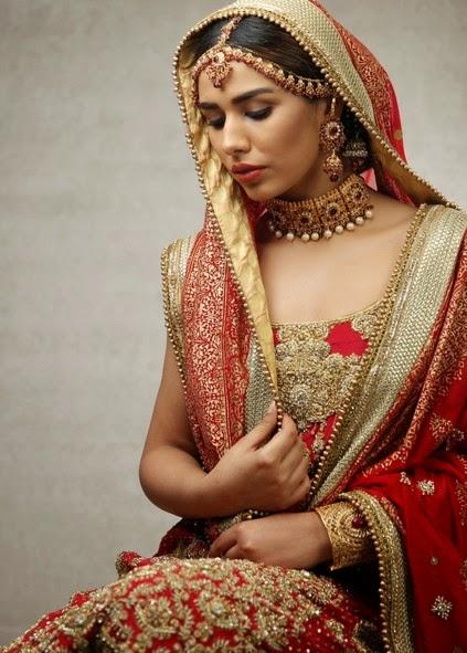 Deepak Perwani Latest Bridal-wedding wear dressescollection for men and women at Pantane Bridal Couture week 2014  (3)