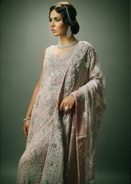 Deepak Perwani Latest Bridal-wedding wear dressescollection for men and women at Pantane Bridal Couture week 2014  (5)