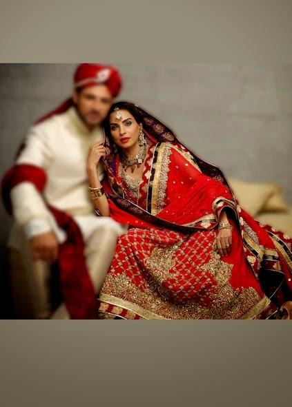 Deepak Perwani Latest Bridal-wedding wear dressescollection for men and women at Pantane Bridal Couture week 2014  (7)