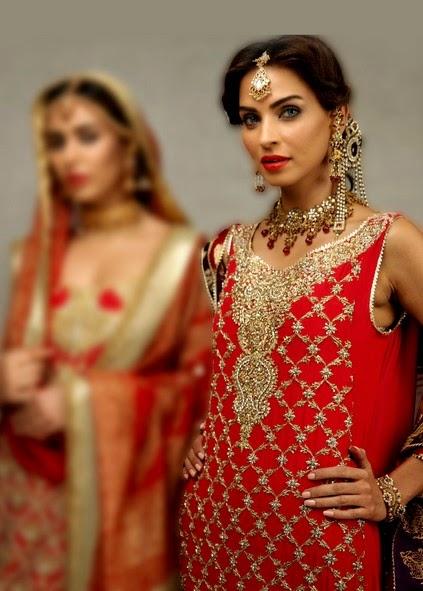 Deepak Perwani Latest Bridal-wedding wear dressescollection for men and women at Pantane Bridal Couture week 2014  (8)