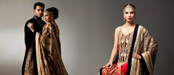 Deepak Perwani Latest Bridal-wedding wear dressescollection for men and women at Pantane Bridal Couture week 2014  (9)