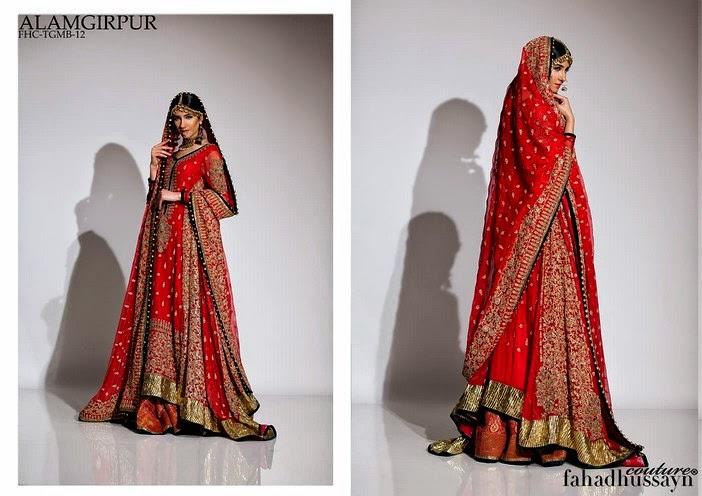 Fahad Hussayn Latest Bridal Formal Wear dresses Collection 2014-2015