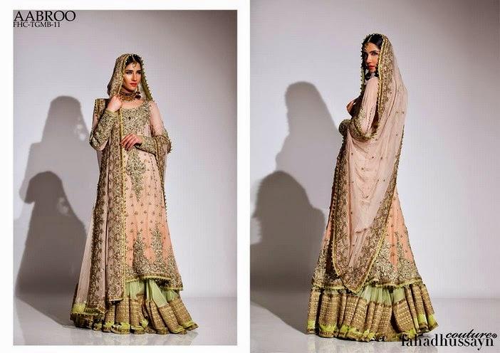 Fahad Husayn Latest Bridal dresses Collection 2014-2015 (13)