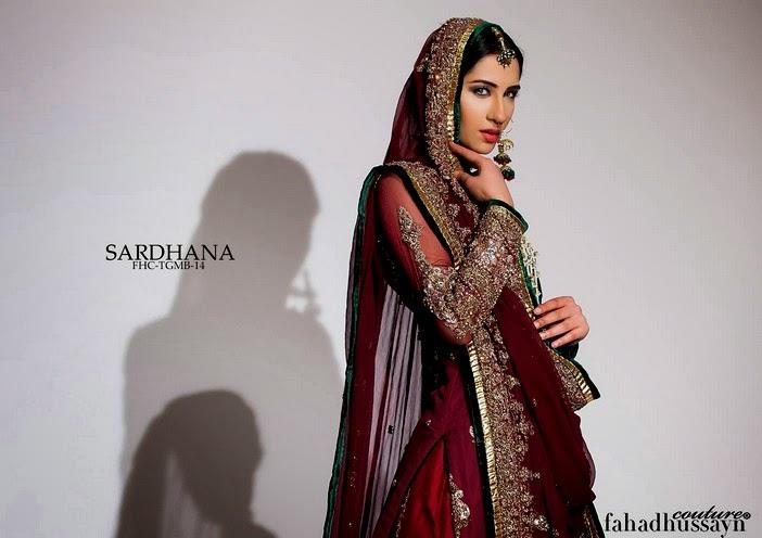 Fahad Husayn Latest Bridal dresses Collection 2014-2015 (4)