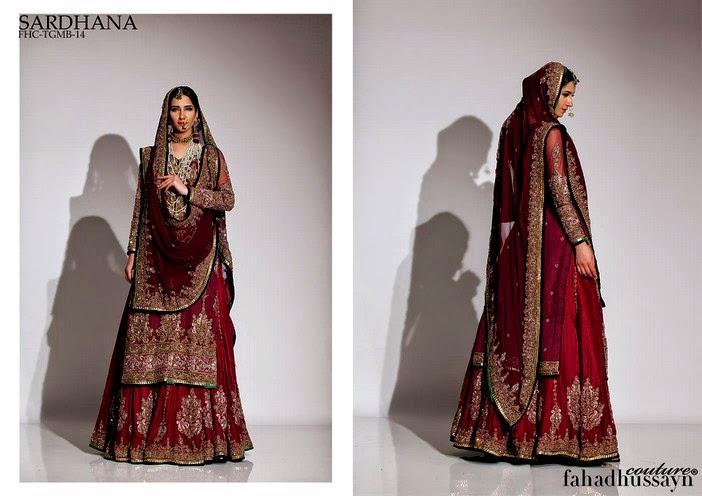 Fahad Husayn Latest Bridal dresses Collection 2014-2015 (7)