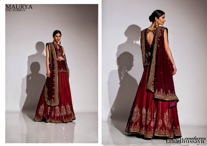 Fahad Husayn Latest Bridal dresses Collection 2014-2015 (9)