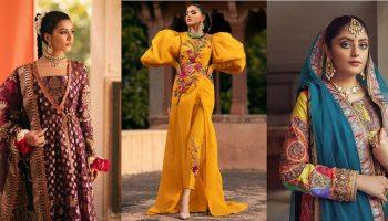 Fahad Hussayn Latest Wedding Formal Dresses Gowns Designs