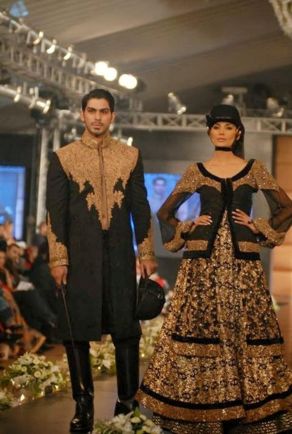 HSY- Latest wedding dresses 2014-2015- Pantene bridal couture week 2014 (3)