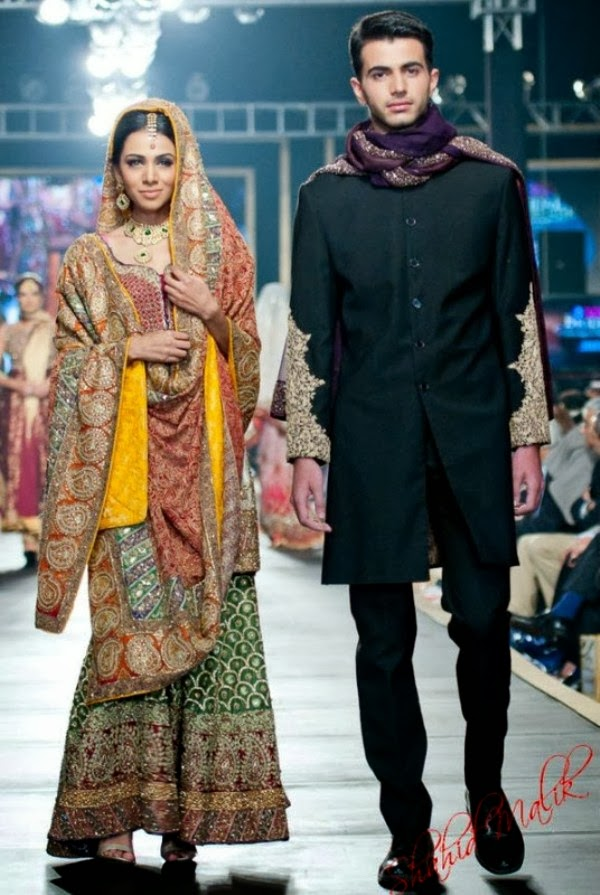HSY- Latest wedding dresses 2014-2015- Pantene bridal couture week 2014 (4)