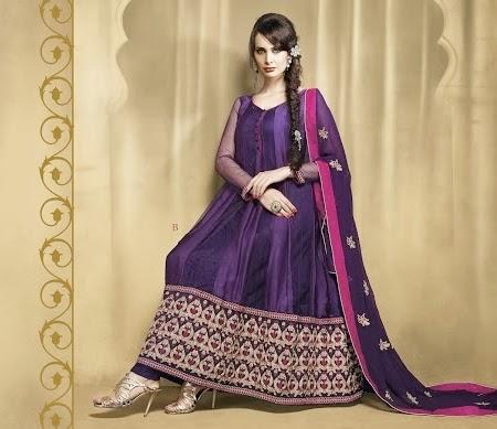 Latest Stylish Embroidered Designer Anarkali frocks fancy Pishwas Dress Designs for women 2014-2015 (1)