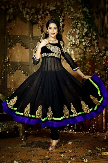 Latest Stylish Embroidered Designer Anarkali frocks fancy Pishwas Dress Designs for women 2014-2015 (12)