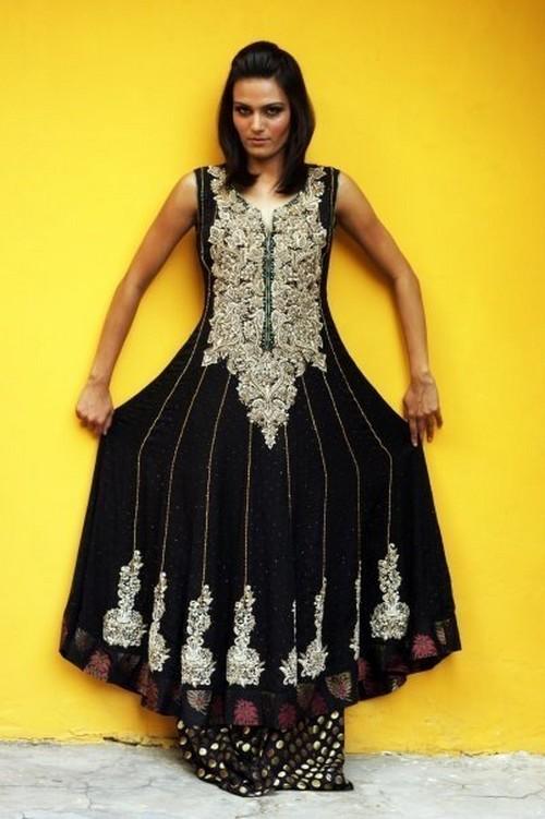 Latest Stylish Embroidered Designer Anarkali frocks fancy Pishwas Dress Designs for women 2014-2015 (14)