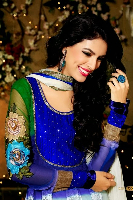 Latest Stylish Embroidered Designer Anarkali frocks fancy Pishwas Dress Designs for women 2014-2015 (2)
