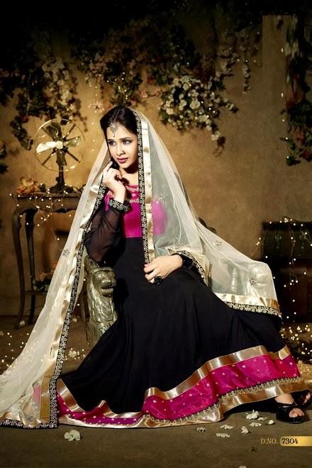 Latest Stylish Embroidered Designer Anarkali frocks fancy Pishwas Dress Designs for women 2014-2015 (7)