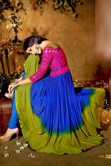 Latest Stylish Embroidered Designer Anarkali frocks fancy Pishwas Dress Designs for women 2014-2015 (9)