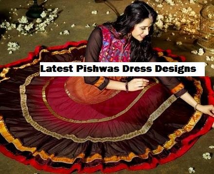 Latest Stylish Embroidered Designer Anarkali frocks fancy Pishwas Dress Designs for women
